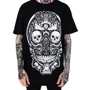 NWT KILLSTAR Memento Mori Shirt goth punk death